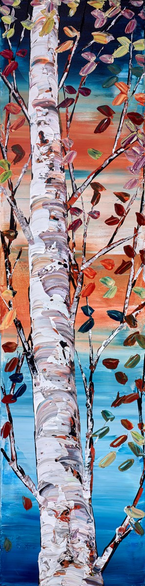 The Tallest Tree IV by maya eventov -  sized 12x48 inches. Available from Whitewall Galleries